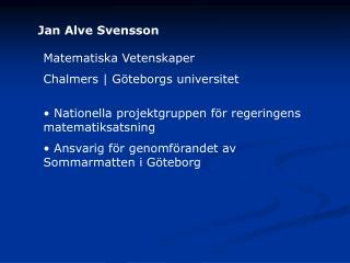 Jan Alve Svensson