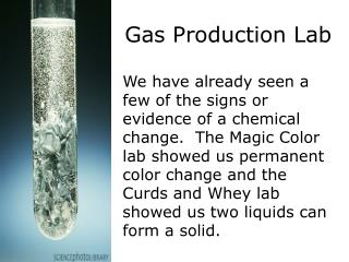 Gas Production Lab