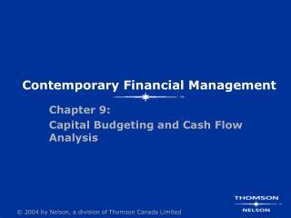 Contemporary Financial Management