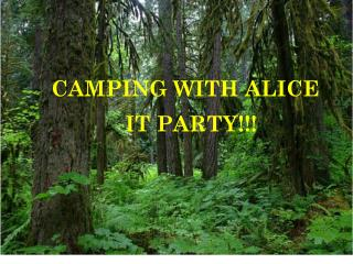 CAMPING WITH ALICE