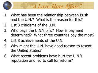 �A Love-Hate Affair�