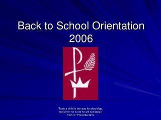 Back to School Orientation 2006