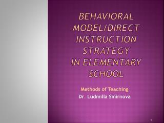 Behavioral Model