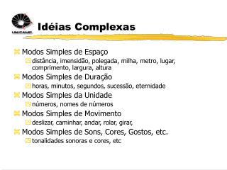 Idéias Complexas