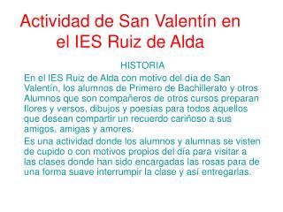 Actividad de San Valentín en el IES Ruiz de Alda