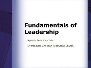 Fundamentals of Leadership