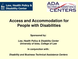 Access and Accommodation for People with Disabilities