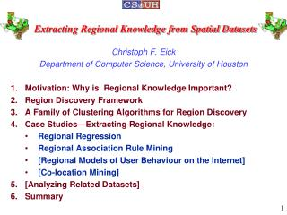 Extracting Regional Knowledge from Spatial Datasets