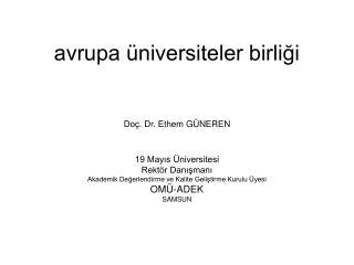 avrupa üniversiteler birliği