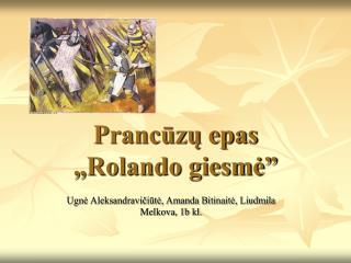"""Prancūzų epas  """"Rolando giesmė"""""""