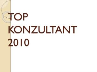 TOP KONZULTANT  2010