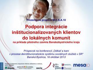 Prezentácia projektu M.E.S.A.10