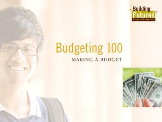 All About Budgeting What is a budget