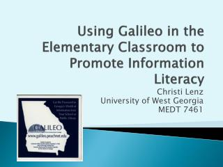 Using Galileo in the Elementary Classroom to Promote Information Literacy