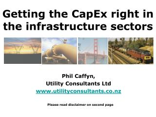 Getting the CapEx right in the infrastructure sectors