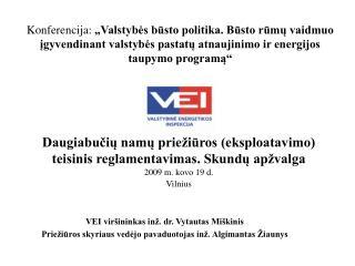 VEI viršininkas inž. dr. Vytautas Miškinis