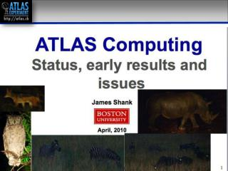 ATLAS Computing  Status, early results and issues