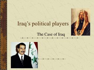 Iraq's political players