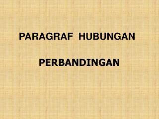 PARAGRAF  HUBUNGAN