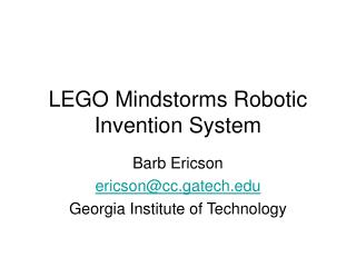 LEGO Mindstorms Robotic Invention System