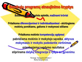 Bendrųjų programų atnaujinimo kryptys