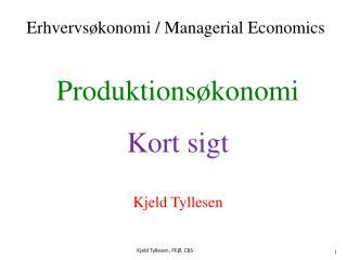 Produktionsøkonomi Kort sigt Kjeld Tyllesen