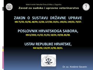 Dr. sc. Krešimir Severin