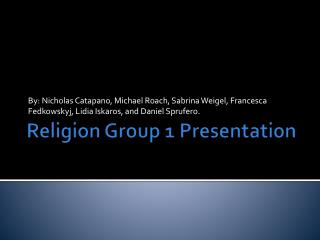 Religion Group 1 Presentation