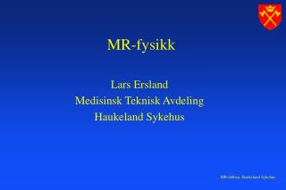 MR-fysikk