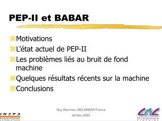 PEP-II et BABAR