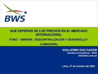 Lima, 27 de octubre de 2004