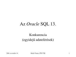 Az  Oracle  SQL 13.