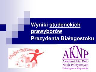 Wyniki  studenckich prawyborów Prezydenta Białegostoku