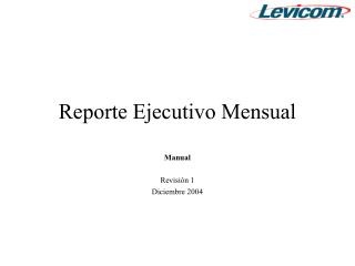 Reporte Ejecutivo Mensual
