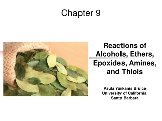 Chapter 10: Alcohols