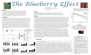 The Blueberry Effect