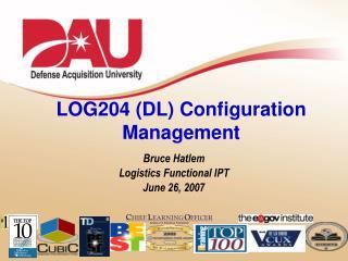 LOG204 (DL) Configuration Management