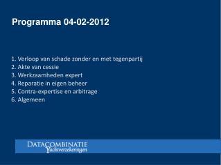 Programma 04-02-2012