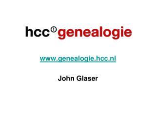 genealogie.hcc.nl John Glaser