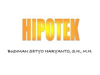 BUDIMAN SETYO HARYANTO, S.H., M.H.