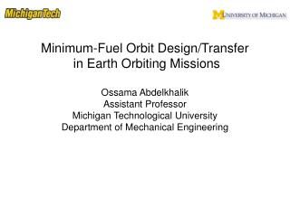 Minimum-Fuel Orbit Design