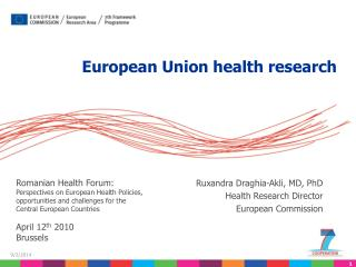 European Union health research