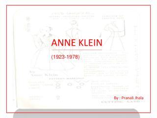 ANNE KLEIN  (1923-1978)