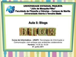 Aula 5: Blogs