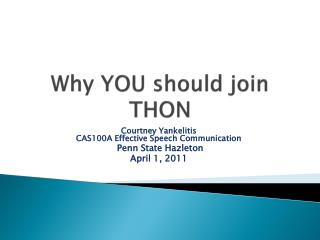 Why YOU should join THON
