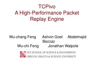 TCPivo A High-Performance Packet  Replay Engine