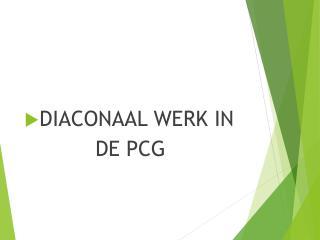 DIACONAAL WERK  IN            DE PCG