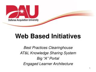 Web Based Initiatives