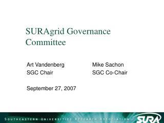 SURAgrid Governance Committee