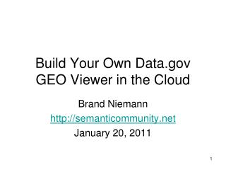Build Your Own Data GEO Viewer in the Cloud